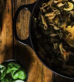 Chili-Basilikum-Penne