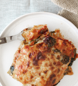 Spicy Karotten-Ingwer-Spinat Lasagne