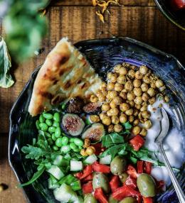 Gebackene Curry-Kichererbsen