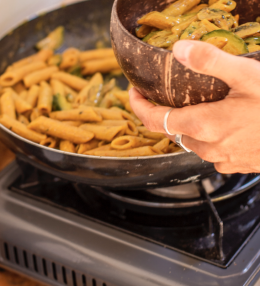 Campingküche: Curry-Gemüse-Pasta