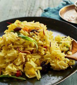 Orientalischer Safran-Reis